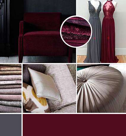 Mood board for website of custom upholstery company
