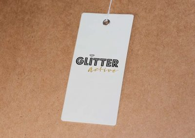 Logo for Glitter Active apparel company
