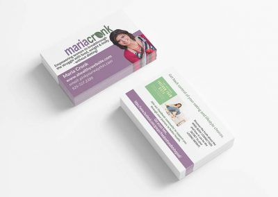 Business cards for health coach