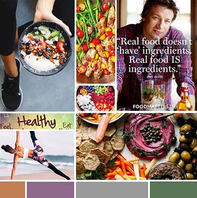 Mood-board for Website for Health Coach