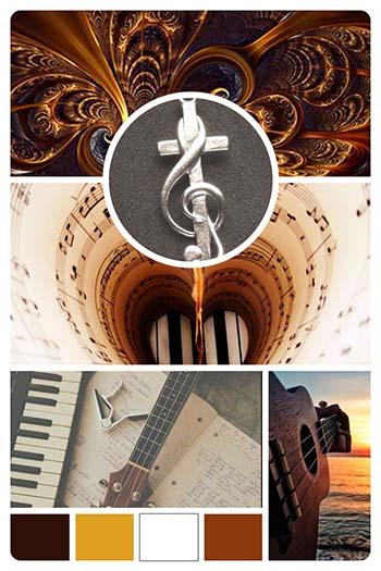 Mood-board for Website for Christian Music Artist