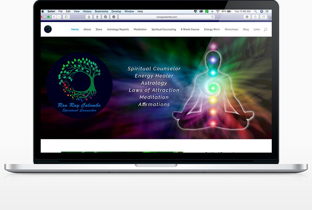 Website Design for Ron Ray Colombo – Spiritual Counselor