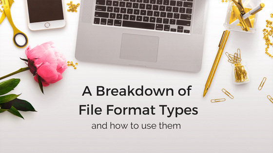 File Formats and How To Use Them