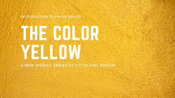 Little Owl Design yellow, color theory