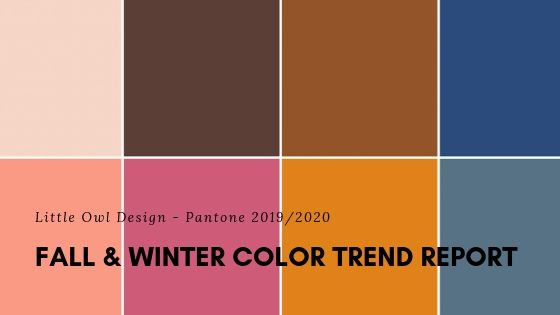 Display of colors from Pantone Fall Winter color list