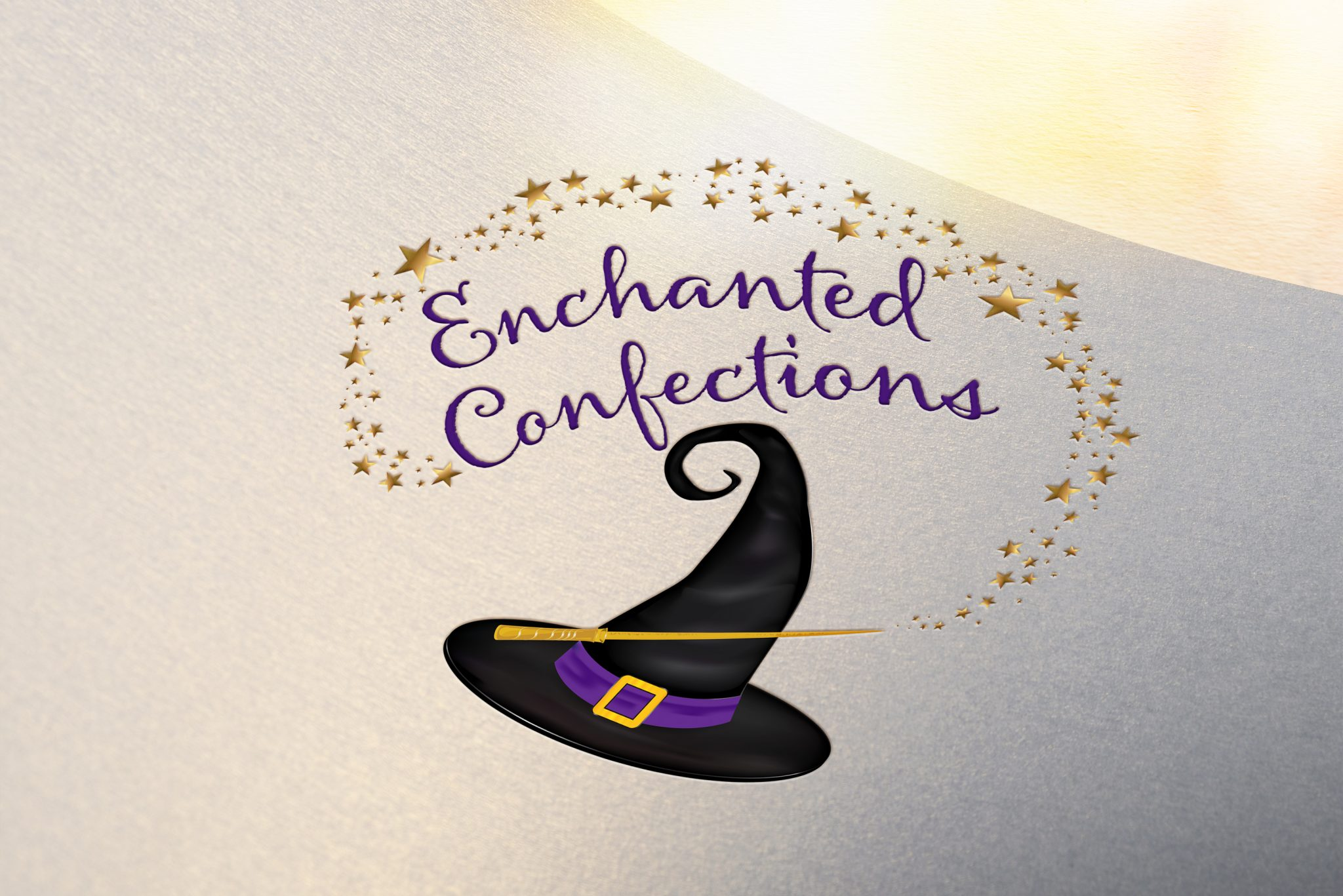 Logo design for Enchanted Creations, a local cottage bakery