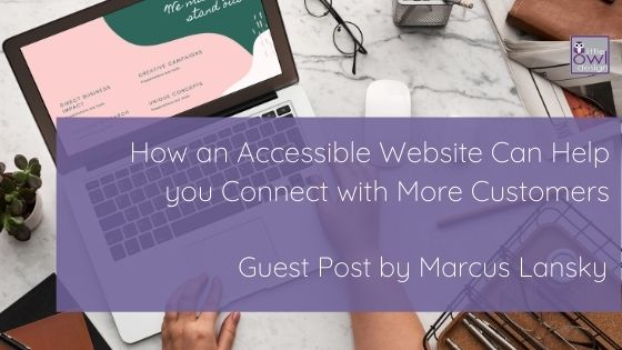Women on laptop building an accessible website